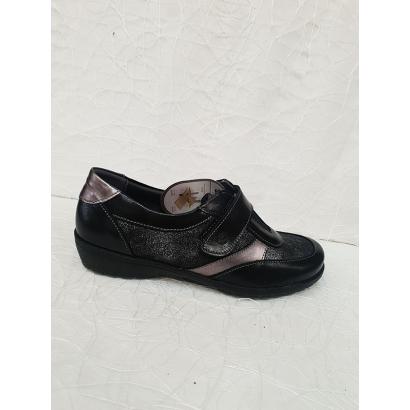 Chaussure veclro noire Suave