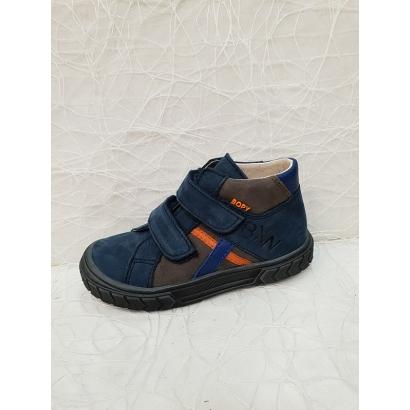 Chaussure à velcros bleu Bopy