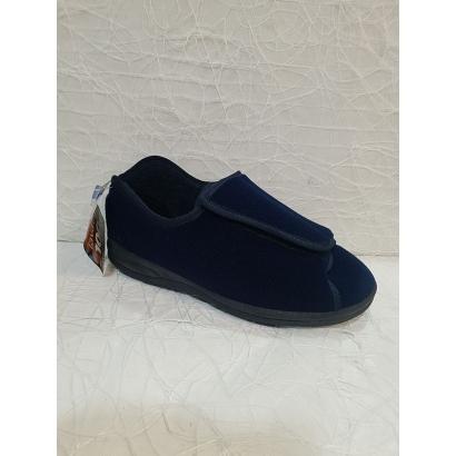 Chaussons velcro bleu...