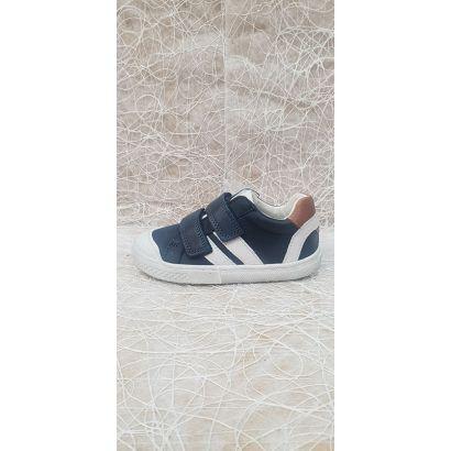 Chaussure à velcros bleu marine Bellamy