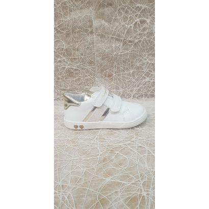 Chaussures 2 velcros blanche Primigi
