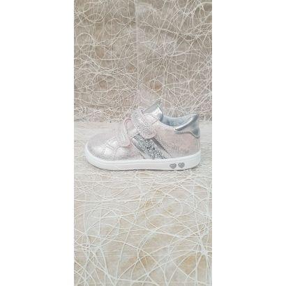 Chaussures 2 velcros rose Primigi