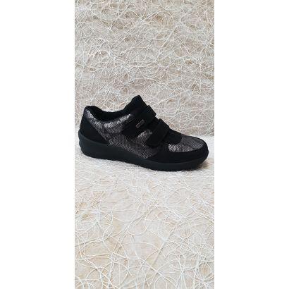 Chaussure 2 velcros noire-bronze Rohde