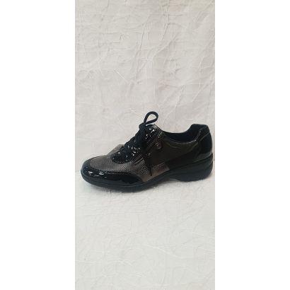 Chaussure à lacets noir-gris Rieker