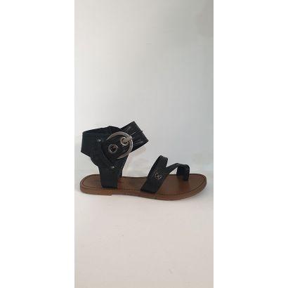 Nu-pied tong noir imprimé Chattawak