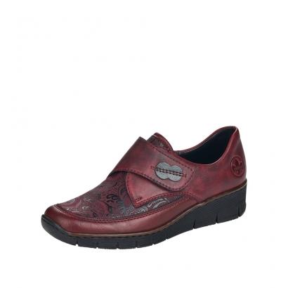 Chaussure à velcro bordeaux...