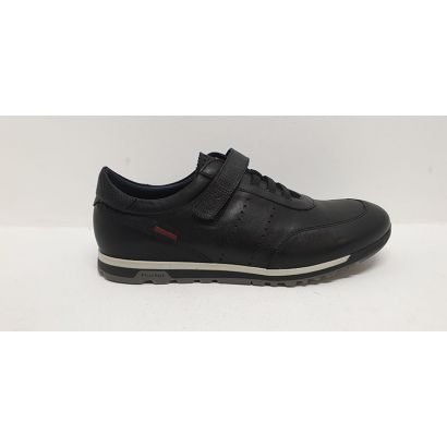 Chaussures à élastiques avec un velcro noire Fluchos