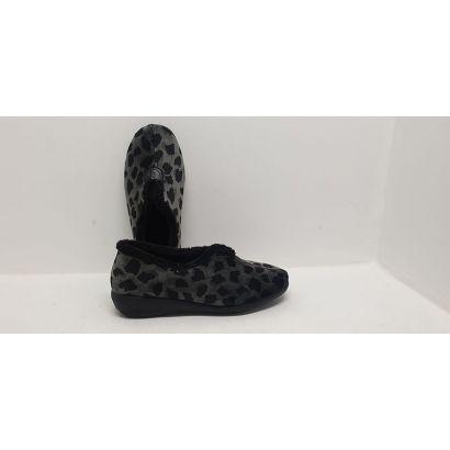 Pantoufle imprimée léopard-grise Roal