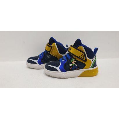 Basket montante mario jaune-bleu Geox
