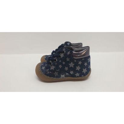 Chaussure à lacets bleu marine avec étoile grise Bellamy