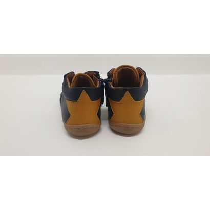 Chaussure à lacets bleu avec étoile jaune Bellamy
