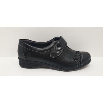 Chaussure un velcro noir Suave