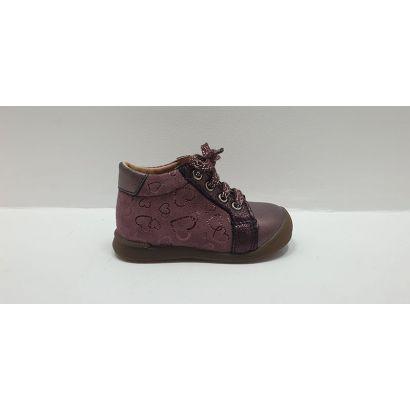 Chaussure à lacets avec coeur bordeaux Bopy
