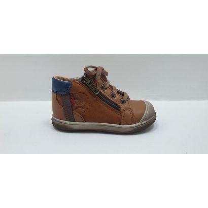 Chaussure à lacets camel avec tirette Bopy