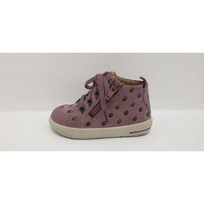 Chaussures à pois rose avec lacets Superfit
