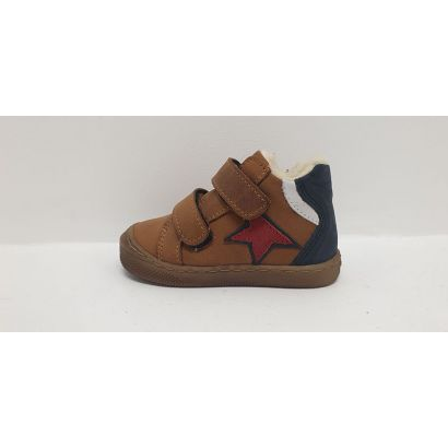 Chaussure 2 velcros Fourrées avec étoile rouge Bellamy