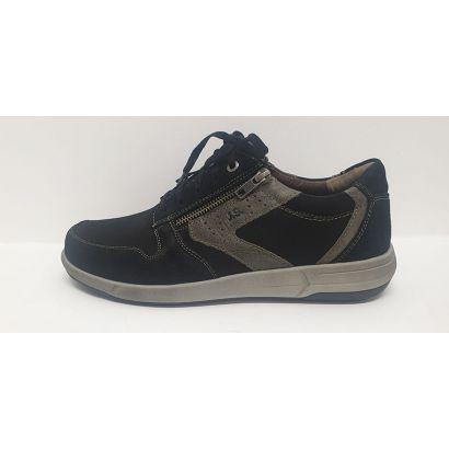 Chaussure à lacets sport noire-grise Jsef Seibel