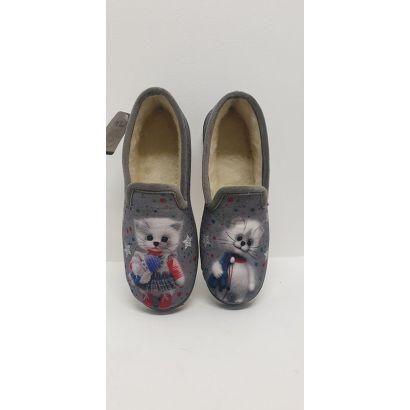 Charentaise grise chat Maison de l'espadrille