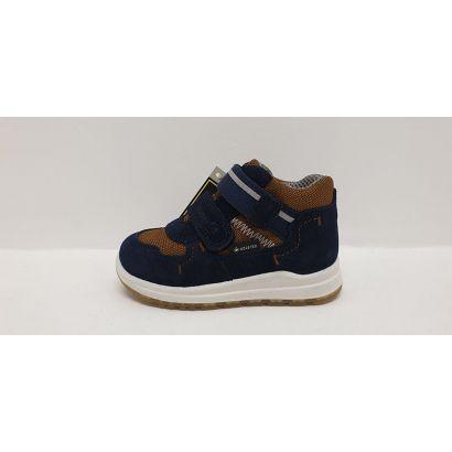 Chaussures 2 velcros marine-camel TEX Superfit