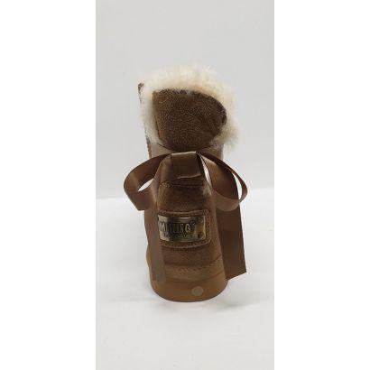 Boots fourrée beige noeud à l'arrièreMustang