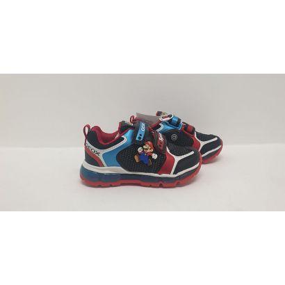 Basket mario rouge et bleu Geox