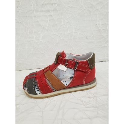 Sandale rouge Bopy