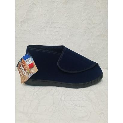Pantoufle 1 velcro bleu...