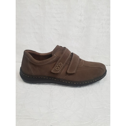 Chaussure 2 velcros daim...